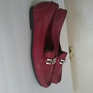 Talbotos red size 8.5B leather loafers